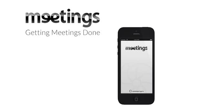 Meetings for iPhone iOS Promo Video