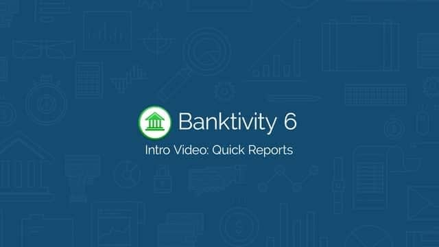 Banktivity 6: Quick Reports Screencast Software Tutorial Video