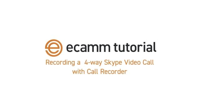 Software Tutorial: Recording a 4-Way Skype with ecamm Call Recorder