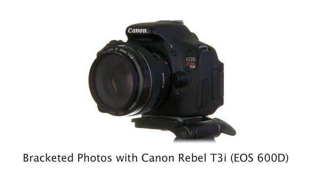How to Shoot HDR Photos with a Canon 600D / Rebel T3i